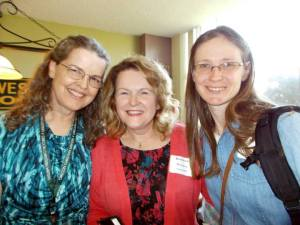 With author Kathleen Ruckman and a friend at OCW spring conference 2014