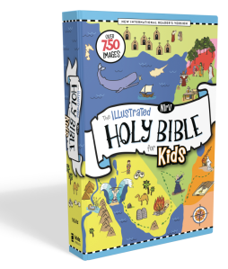 Cover image of The New International Reader's Version of The Illustrated Holy Bible for Kids with a link to its website